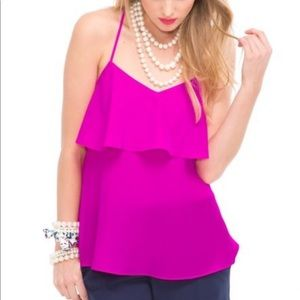 NWT Lilly Pulitzer Sunset Top Mambo Pink small